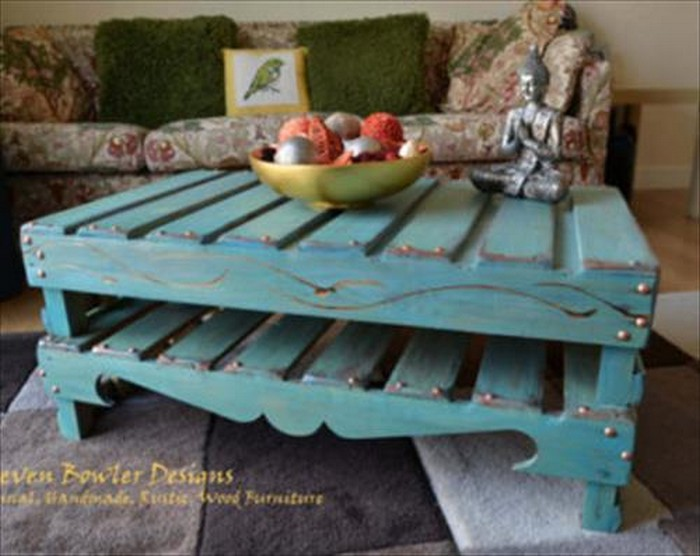 diy pallet coffee table plans | recycled things