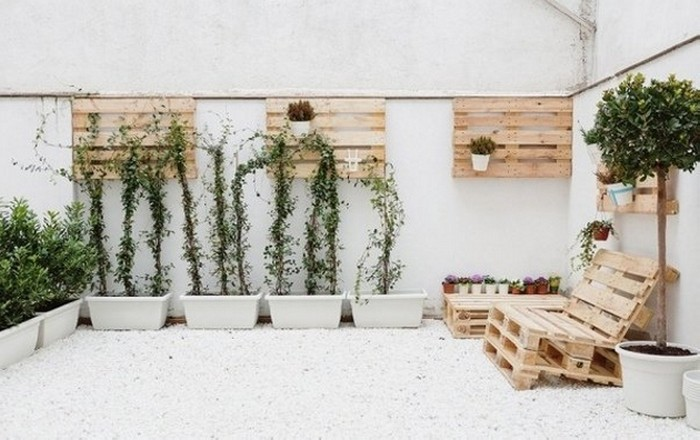 Diy wooden pallet decorating ideas recycled things for Decoracion palets jardin