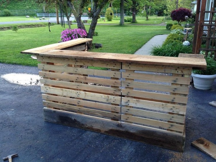 Pallet Patio Bar Pallet Outdoor Bar ... - Recycled Pallet Patio Bar Plans  Recycled - Patio Bar Plans Our Designs