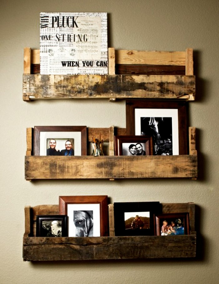 Diy wooden pallet decorating ideas recycled things for Wooden art home decorations