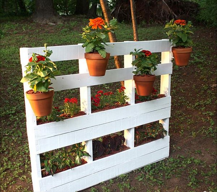 wooden pallet vertical garden ideas recycled things