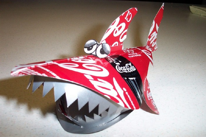 Recycled Aluminum Can Toy Shark