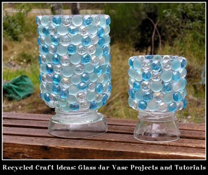 Crafts to do with glass jars recycled things for Recycled glass art projects