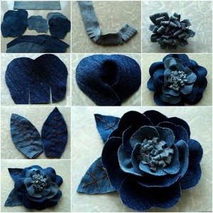 Awesome Flowers Made from Recycled Jeans