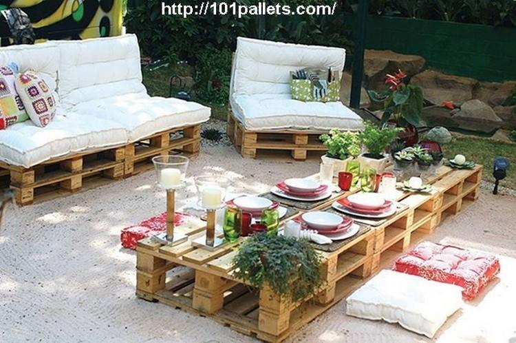 Recycled Pallet Garden Furniture