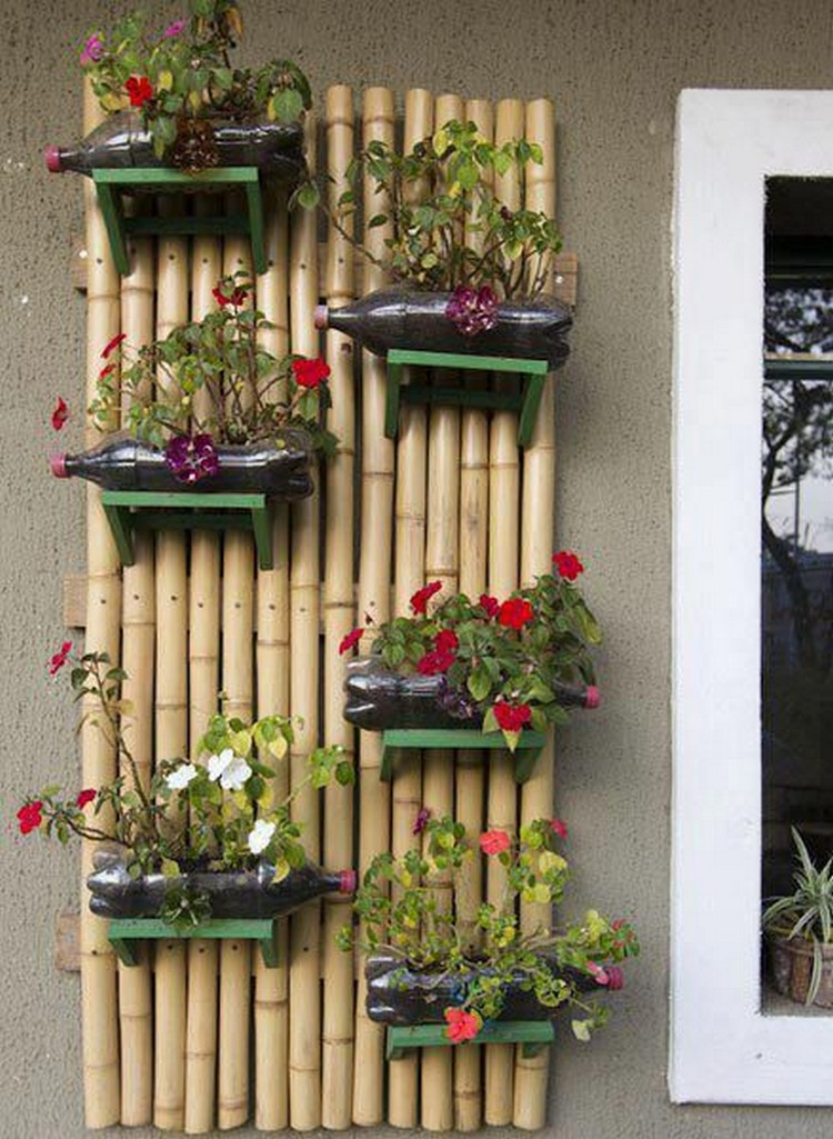Recycled Plastic Bottles Vertical Wall Garden