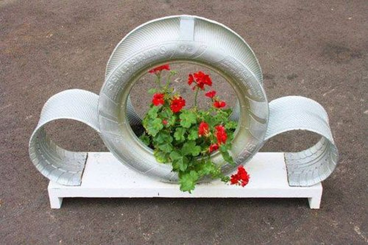 Recycled Tire Awesome Planter