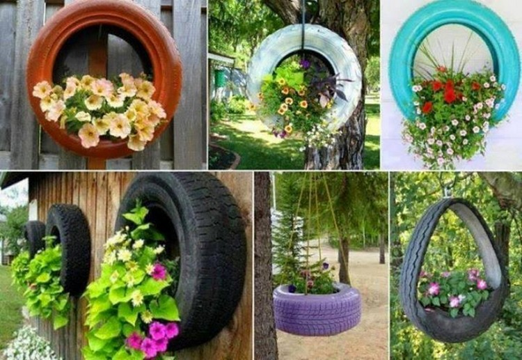 upcycled garden decor projects recycled things. Black Bedroom Furniture Sets. Home Design Ideas