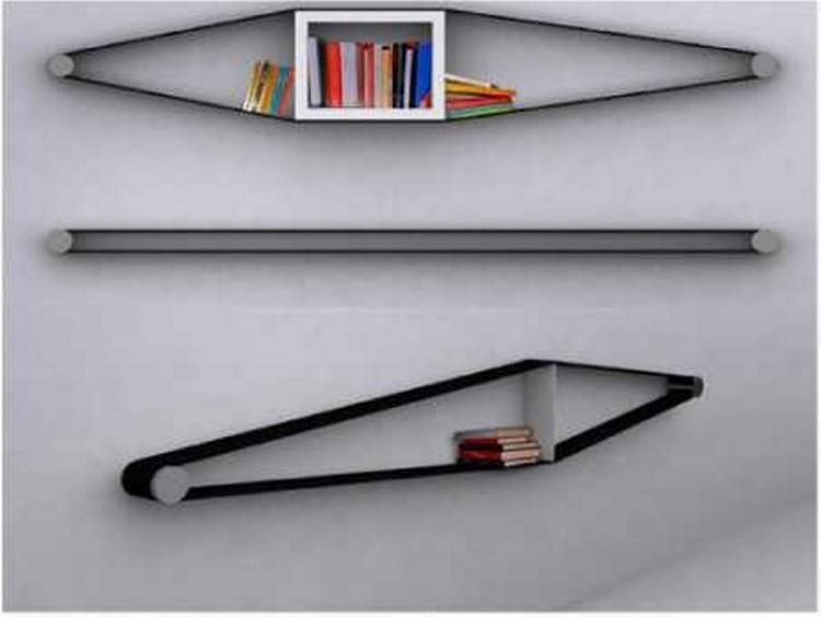 Upcycled Belt Shelf