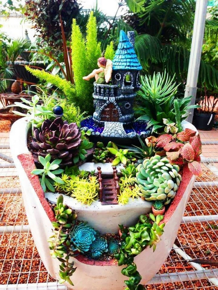 Upcycled Garden Art