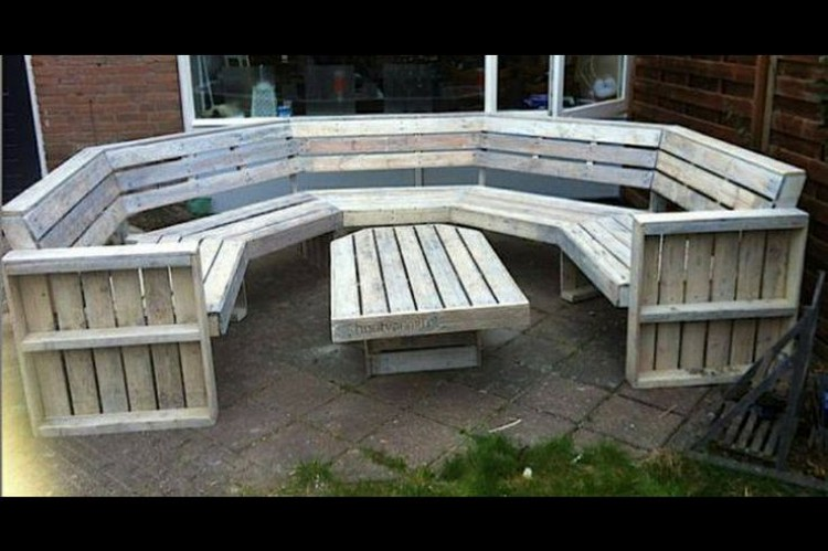 wooden pallet outdoor furniture ideas recycled things - Garden Furniture Out Of Pallets