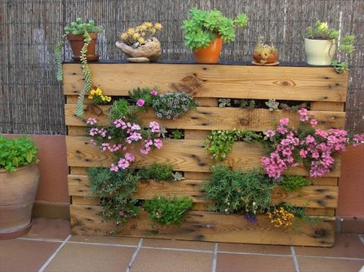 Wooden pallet vertical garden ideas recycled things - Jardin vertical pallet ...