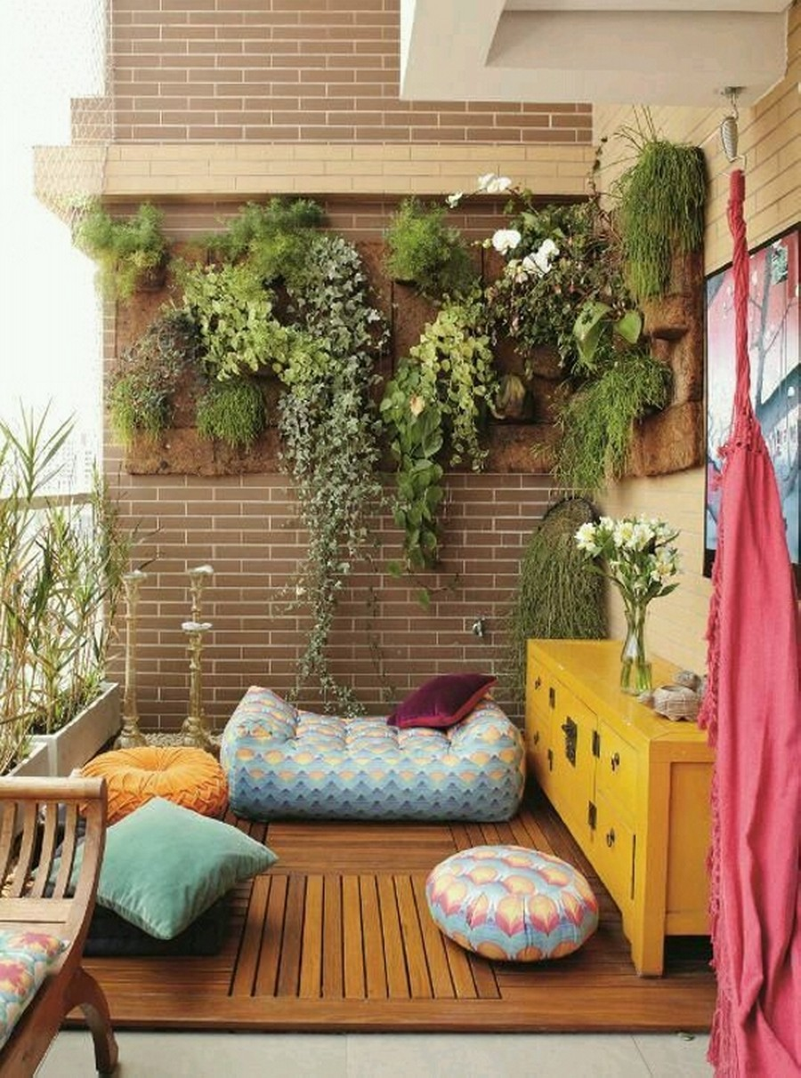 Balcony Decor with Planters