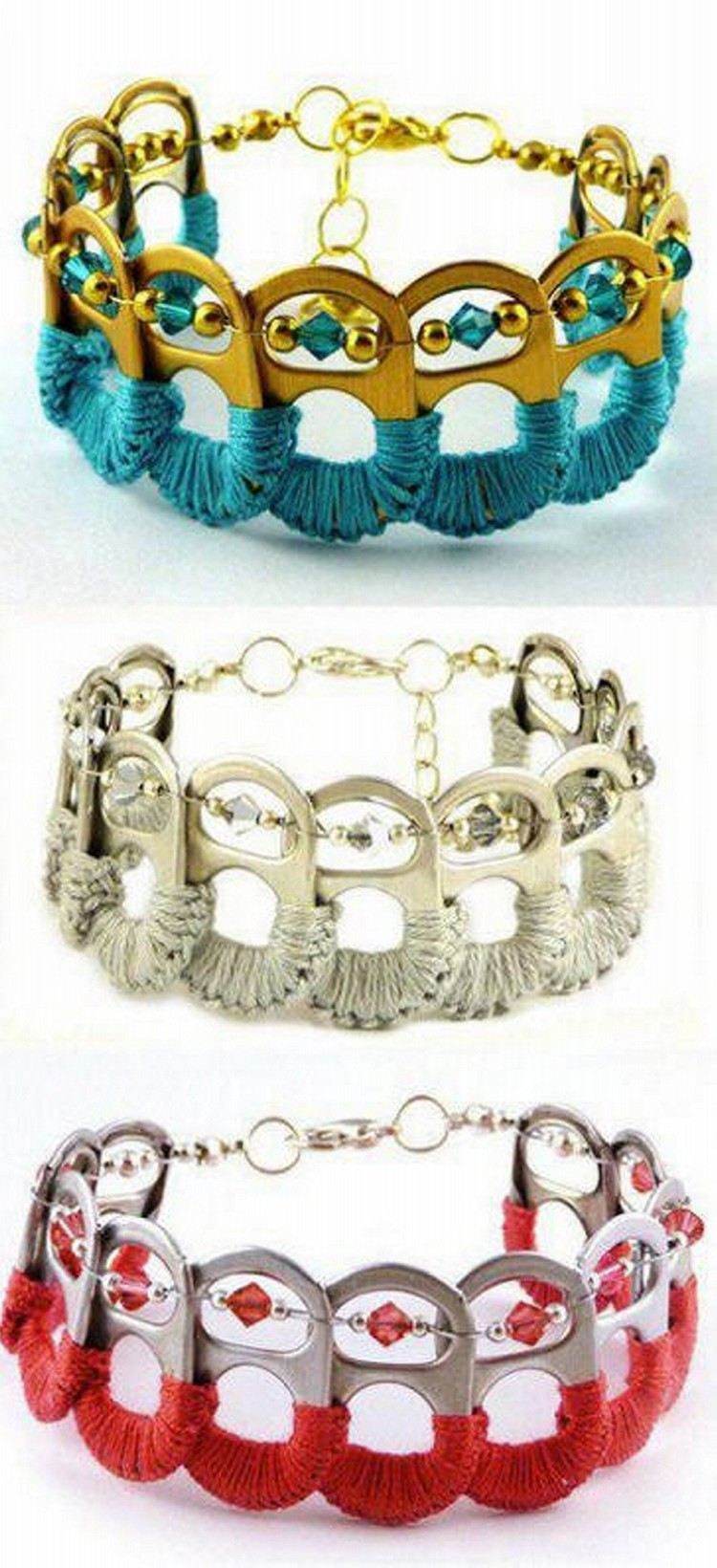 Bracelets Made from Tin Can Top