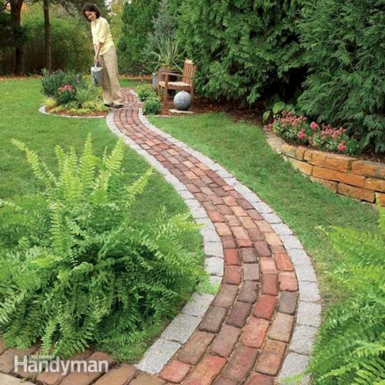 Garden Walkway Ideas affordable garden path ideas Diy Garden Walkway Garden Walkway Garden Wood Walkway Idea