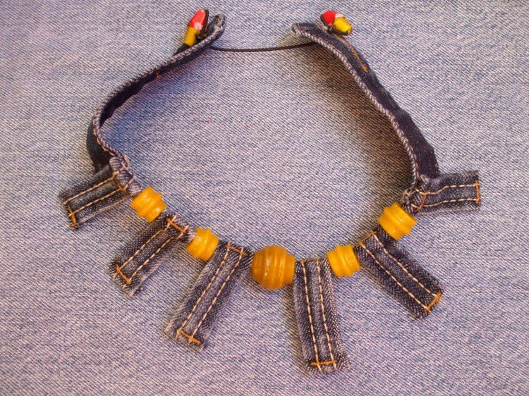 Denim Upcycled Bracelet