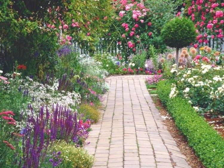 Garden path walkway ideas recycled things for Garden path designs