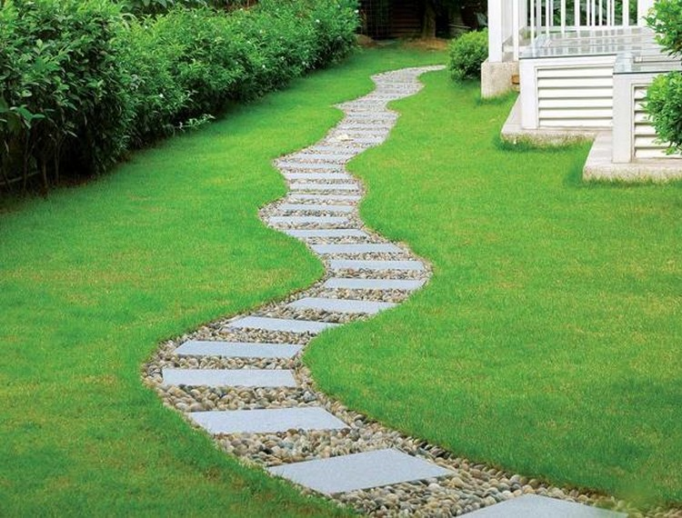 Mulch Path Backyard : Garden Path & Walkway Ideas  Recycled Things