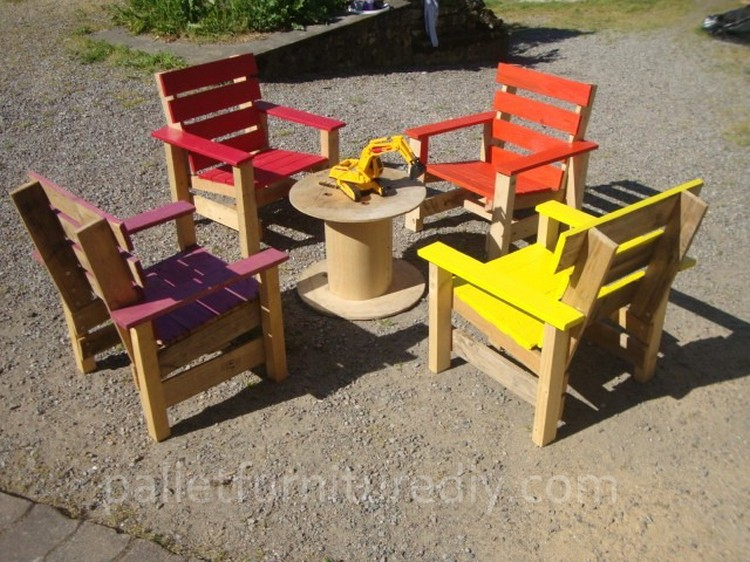 Pallet Armchairs for Kids