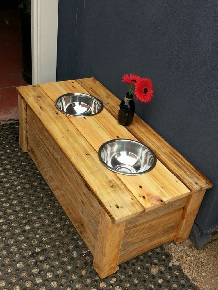 Pallet Dog Food Bowls