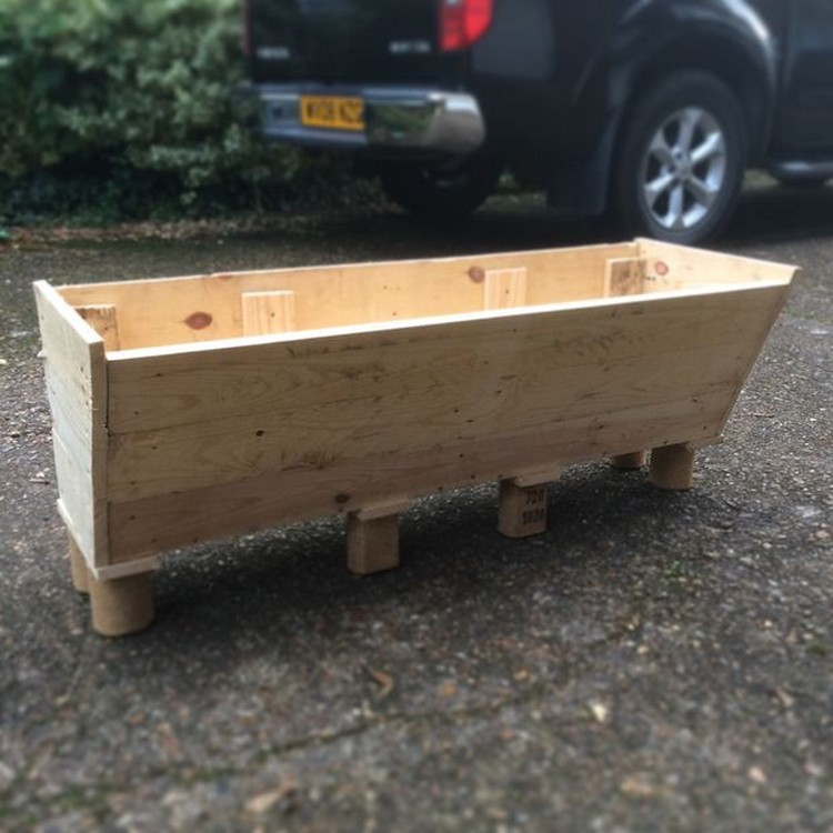 Pallet Herb Trough
