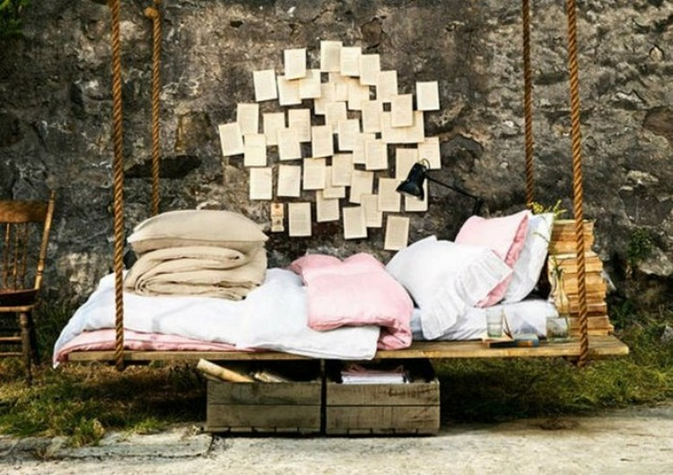 Pallet Patio Swing wooden pallet swing bed ideas | recycled things