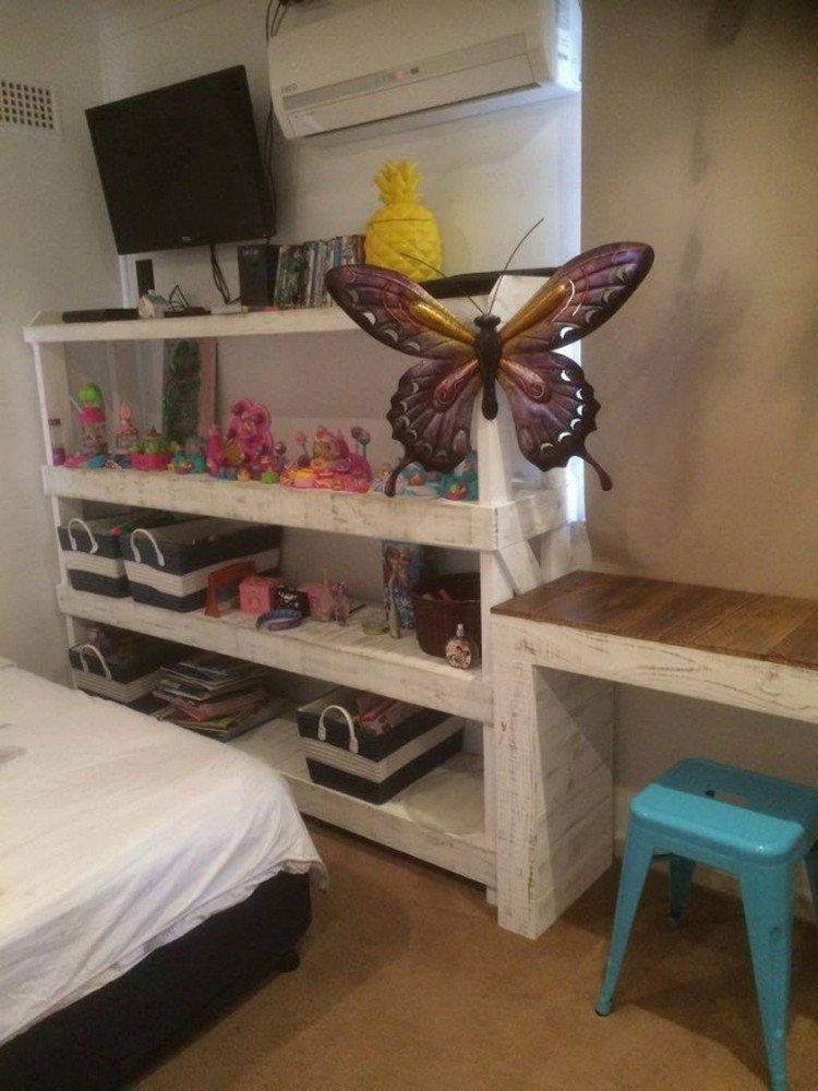 Pallet Shelves and Decor