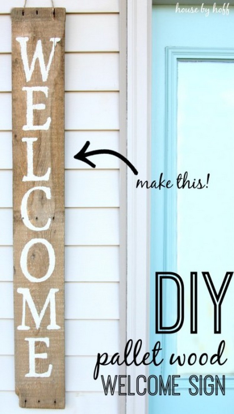 Pallet Welcome Sign Board