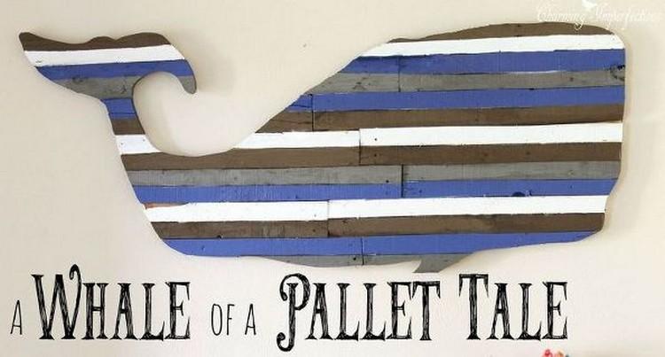 Pallet Whale Art