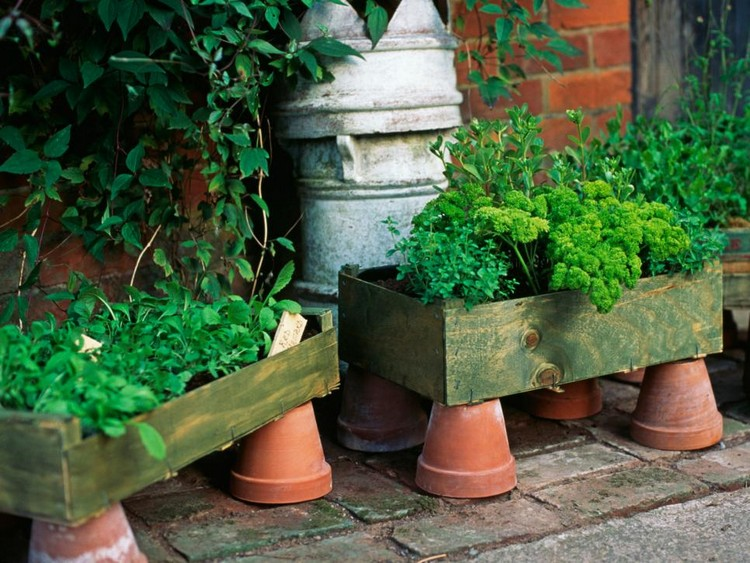 Pallet Wood Planter Boxes
