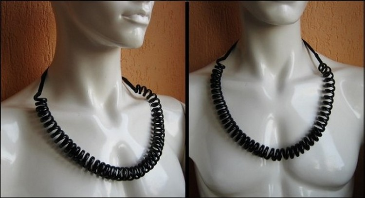 Phone Wire Necklace