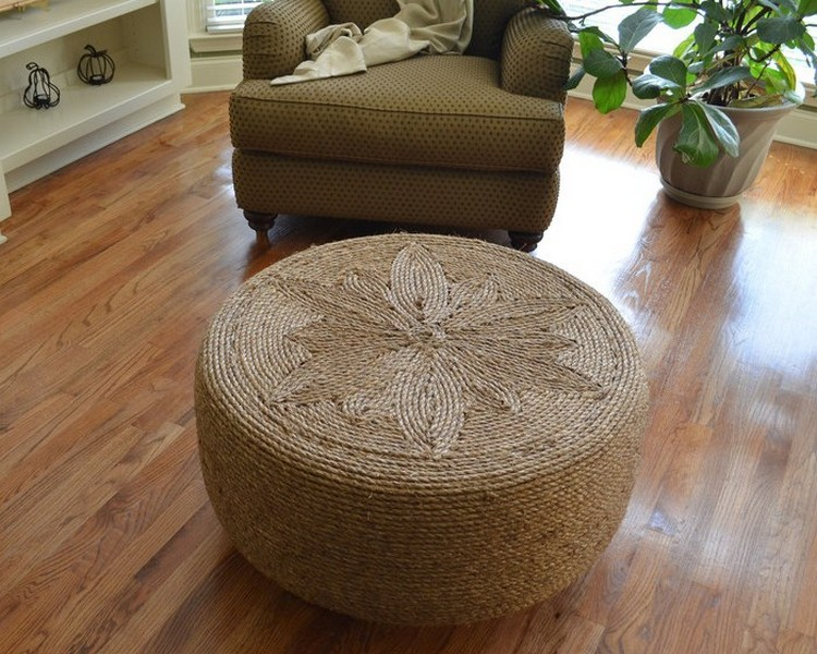 Recycled Tire Round Coffee Table