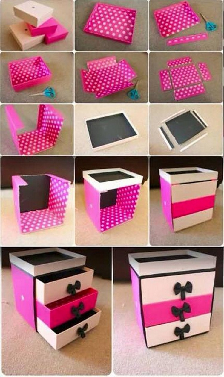 Ways To Repurpose Shoe Boxes Recycled Crafts