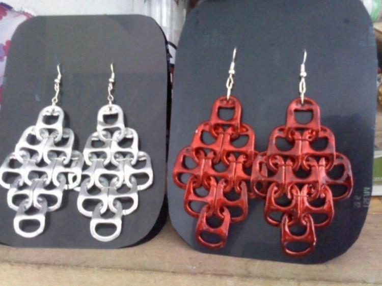 Tin Can Top Earrings