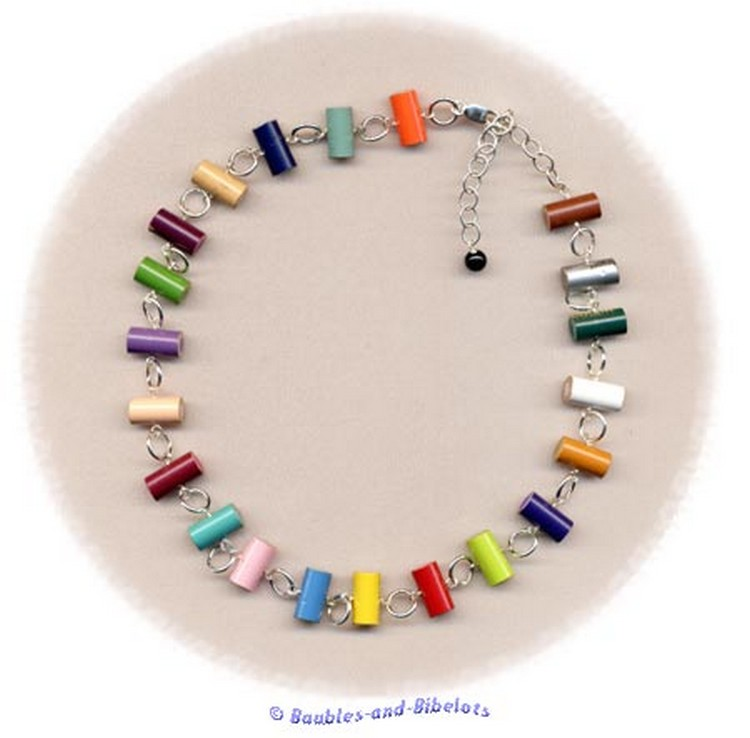 Upcycled Pencil Pieces Necklace