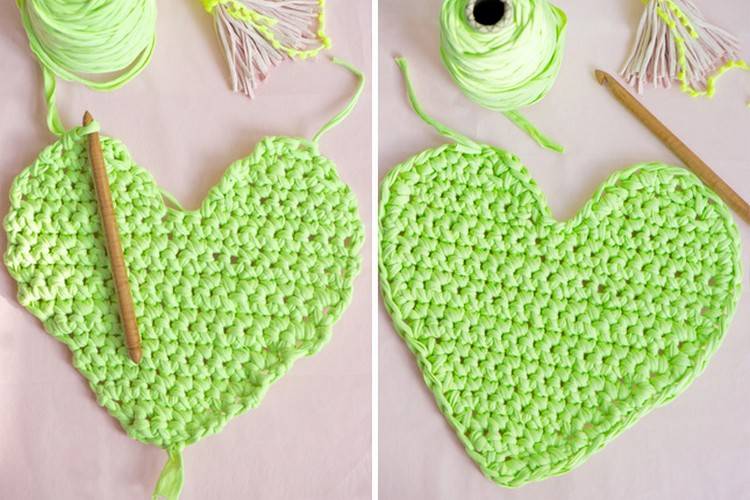 Upcycled T-Shits Heart