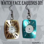 Upcycled Watch Face Earrings