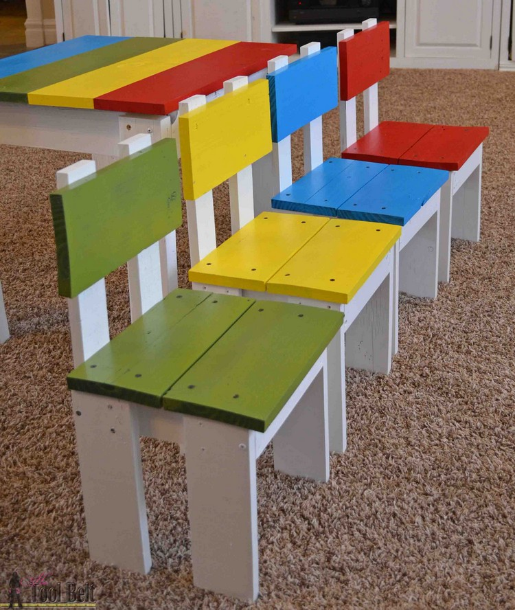 Pallet made furniture for kids recycled things Wooden childrens furniture