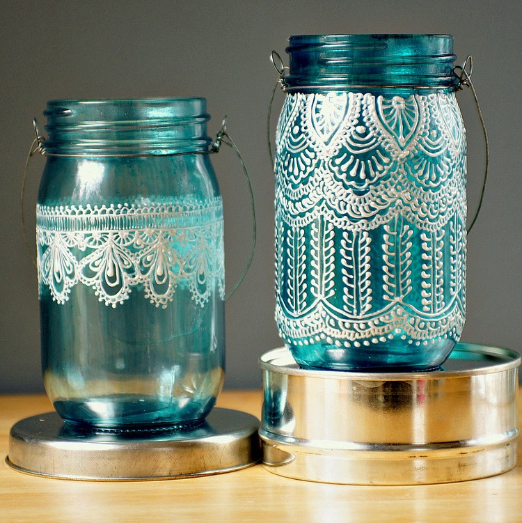 Creative ideas for glass jars recycled things for Candle craft ideas