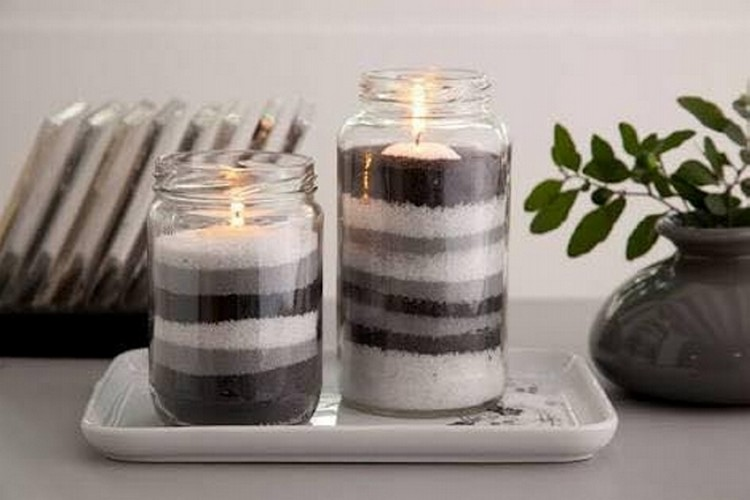 Glass Jars Candle Crafts
