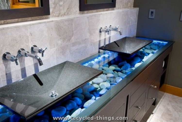 Home Decor with Stones in Bath