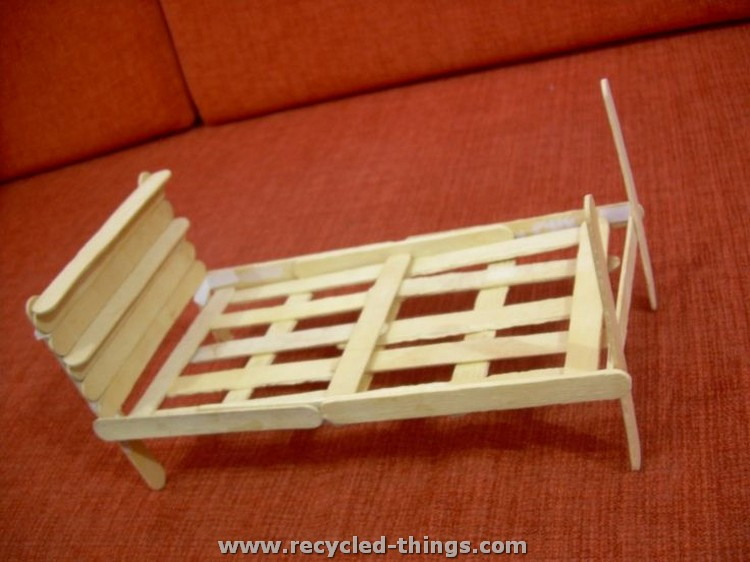 Ice Cream Sticks Doll Bed