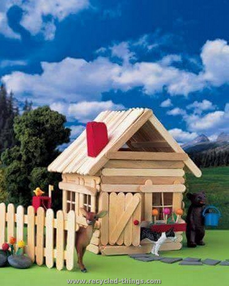 Ice Cream Sticks Playhouse