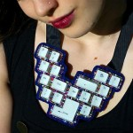 Keyboard Buttons Jewelry Necklace