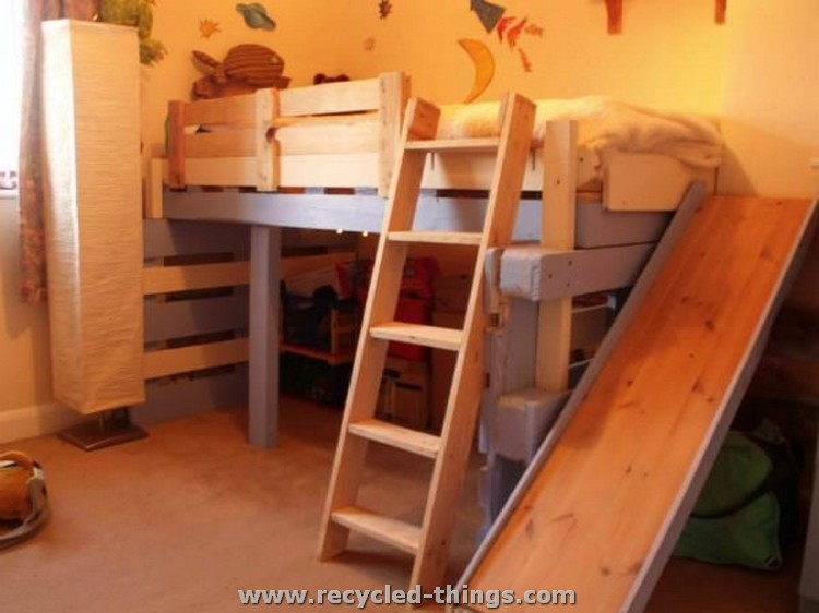 Kids Bed Made from Pallets