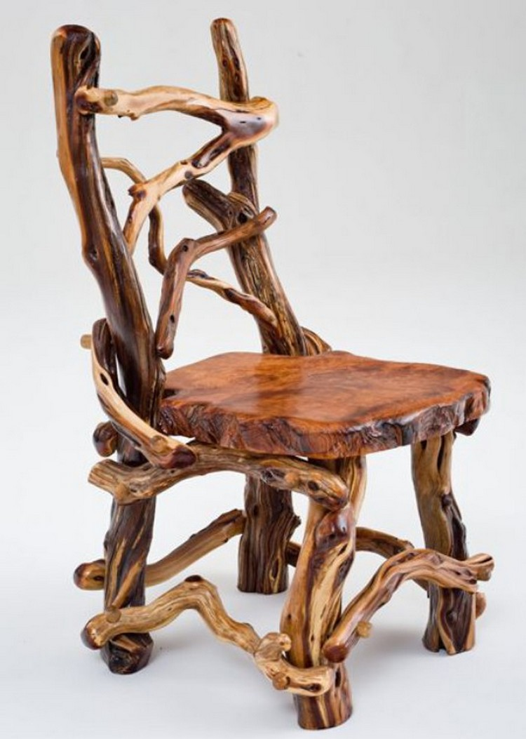 Wooden Arm Chair Designs ~ Log furniture plans recycled things