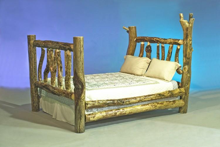 Log Furniture Queen Bed