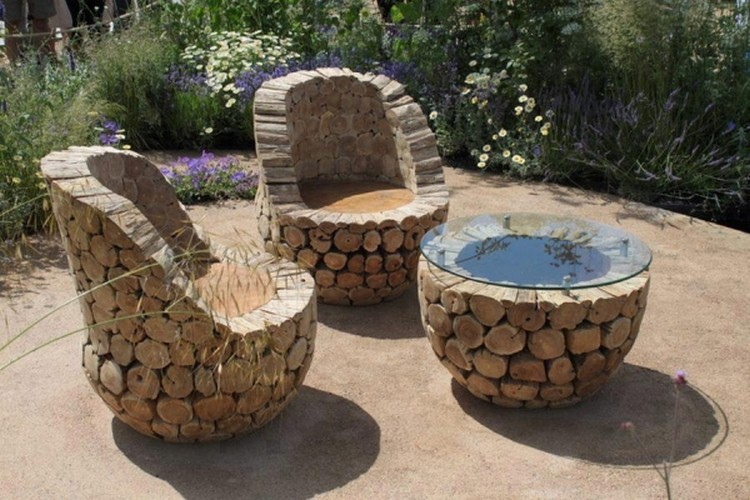 Log Furniture Queen Bed Log Outdoor Furniture Plans ...
