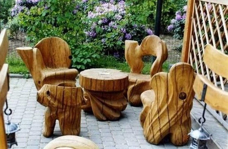 Attractive ... Log Outdoor Furniture ...