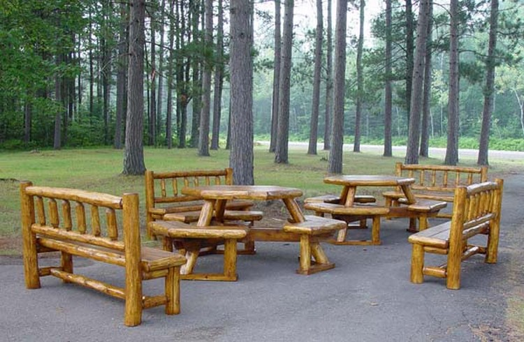... Log Patio Furniture ...